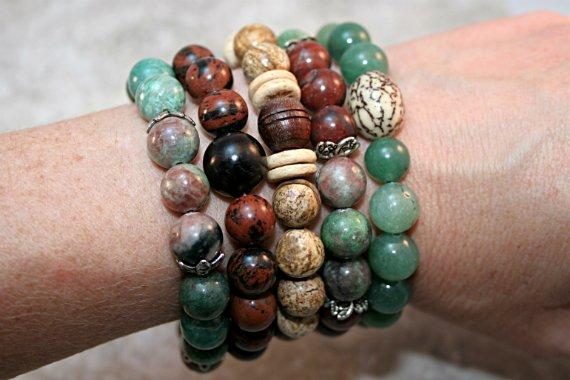 Selection of stacking stretch bracelets