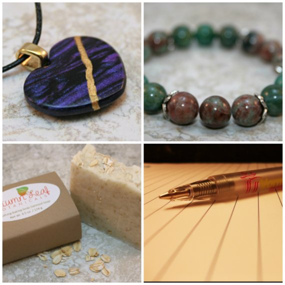 A selection of items from A Kintsugi Life, Earthwear Collection, and Autumn Leaf Botanicals