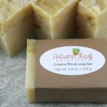 Creamy floral cold process soap bar