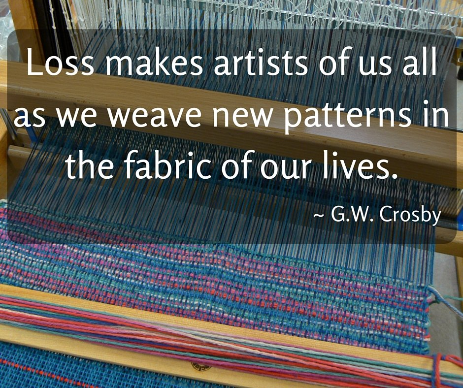 fabric being woven on a loom