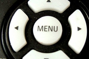 Menu button on remote control
