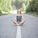 meditation in the road