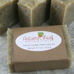 Herbal smudge vegan soap bar with cedar, palo santo, and white sage