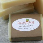 Silky calm cold process soap bar