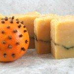 Holiday pomander soap bar
